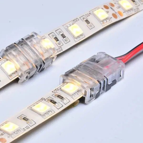 10mm 2pin led strip connector for single color IP65 waterproof dj-n10xb-2