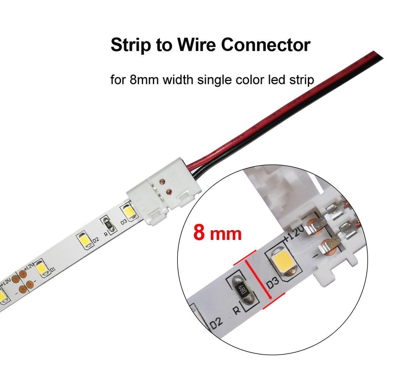 3528 2835 2 Pin 8mm LED light Connectors