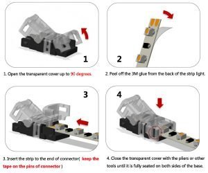 8mm 2pin led strip connectors how to connect strip lights