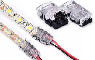 led light strip connectors for a single color led strip lights
