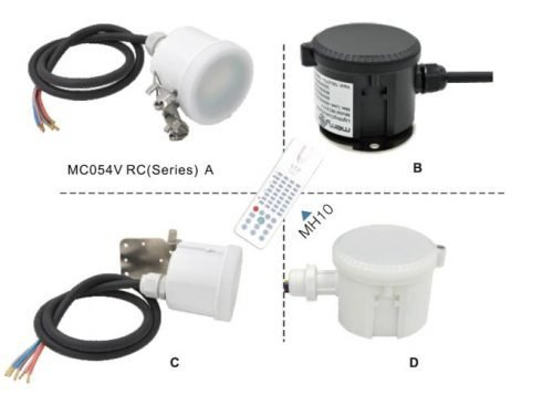 Compact Design Dimmable Motion Sensor MC054V RC 2 Series 1 - 10V Dimming alightings vanconn merrytek